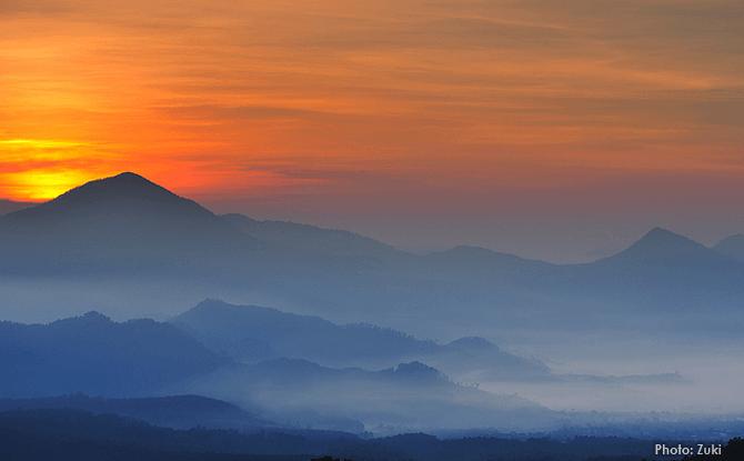 Tangkuban Perahu Volcano in Bandung Indonesia