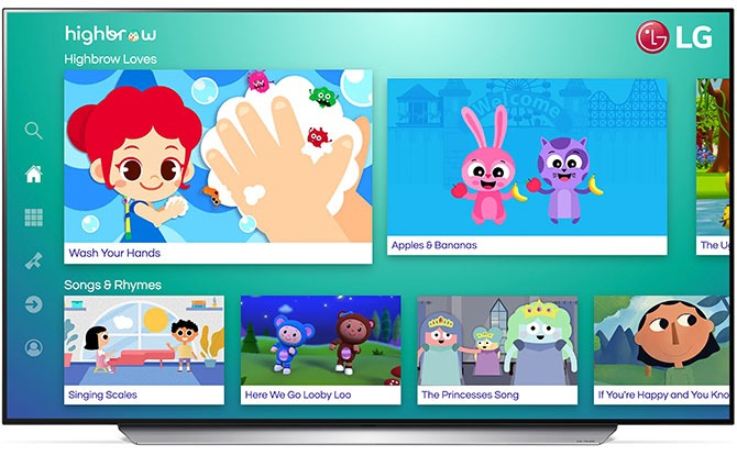 Highbrow VOD Education Platform For Kids Launches On LG Smart TVs