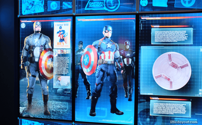 Marvel Avengers Station Captain America exhibit