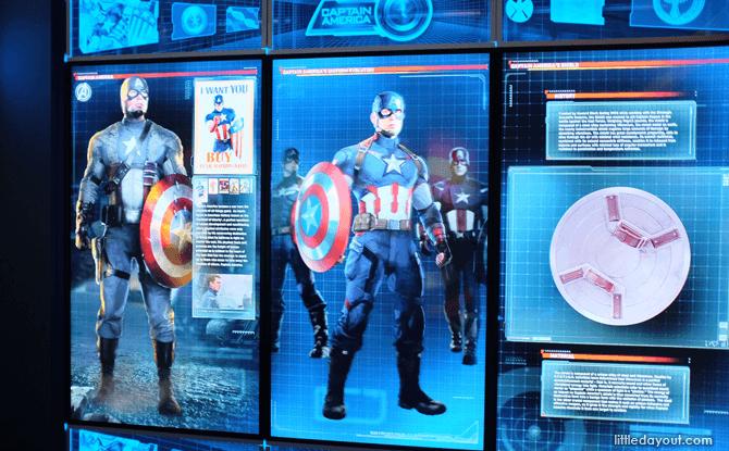 Marvel Avengers Station Captain America exhibit