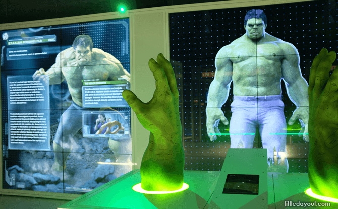 Marvel Avengers Station Hulk exhibit