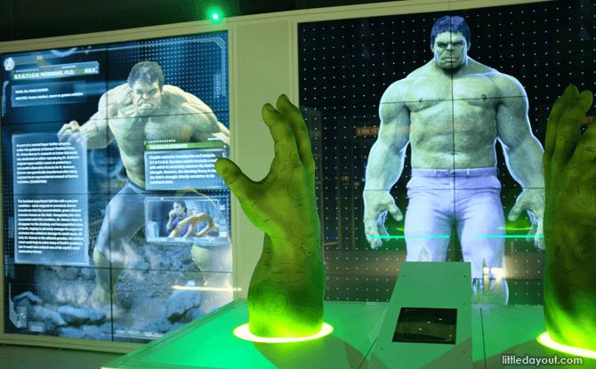 Marvel Avengers Station Hulk exhibit