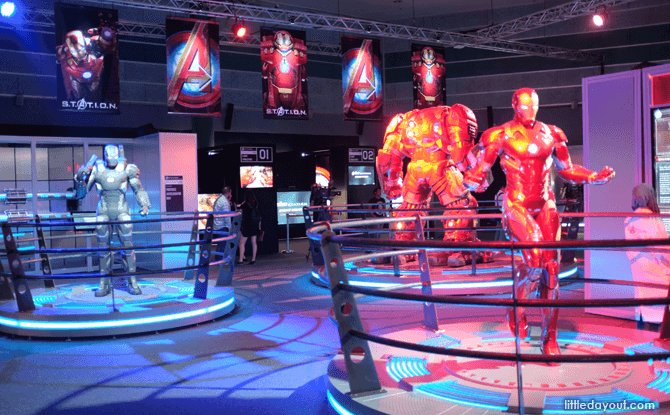 Marvel Avengers Station Iron Man exhibit