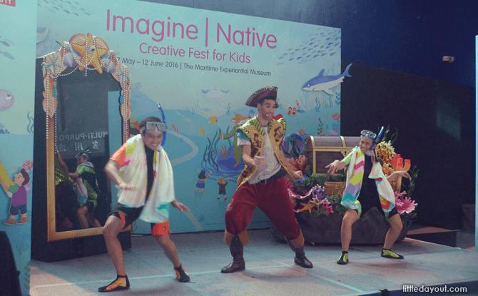 Imagine Native S.E.A. Aquarium stage activities