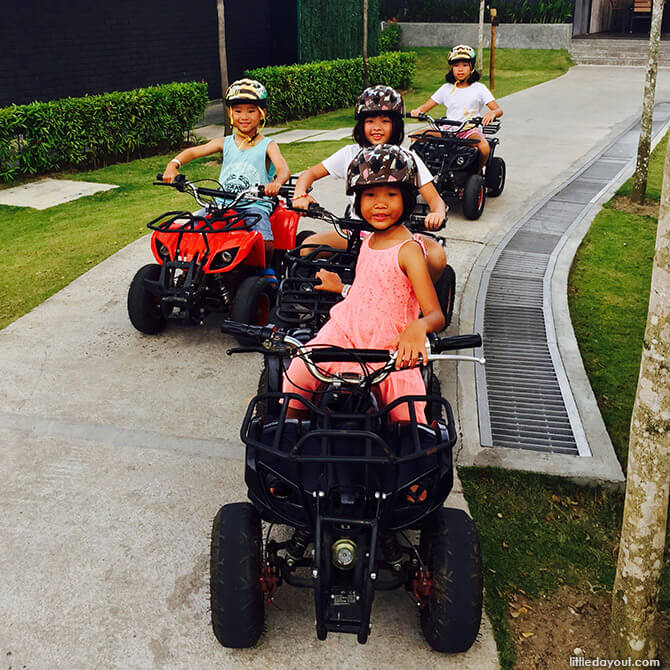 Kids on Electric ATV at The Canopi, Bintan