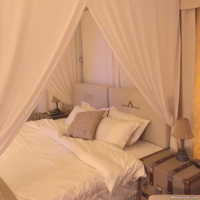 Four Poster Bed at The Canopi Resort Bintan