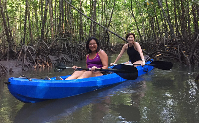 Kayaking in the Mangrove Swamp at The Canopi, Bintan
