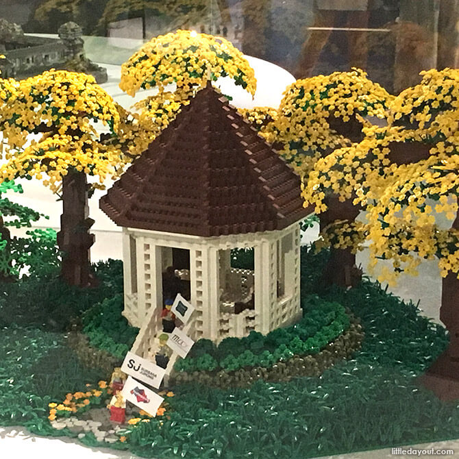 Lego version of the Bandstand at Singapore Botanic Gardens