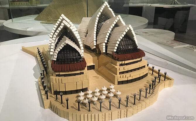 Lego replica of Sydney Opera House