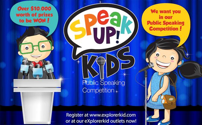 eXplorerkid's Speak Up! Kids Public Speaking Competition