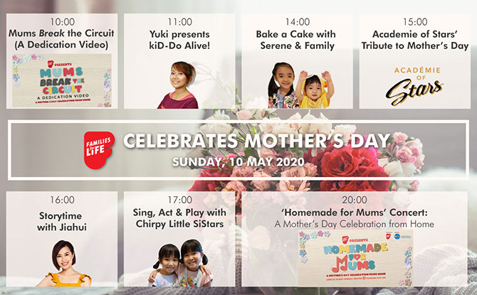 Celebrate Mother's Day @ Home with Families For Life on 10 May 2020