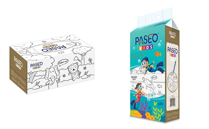 PASEO Launches Tissue Boxes Which Kids Can Colour On