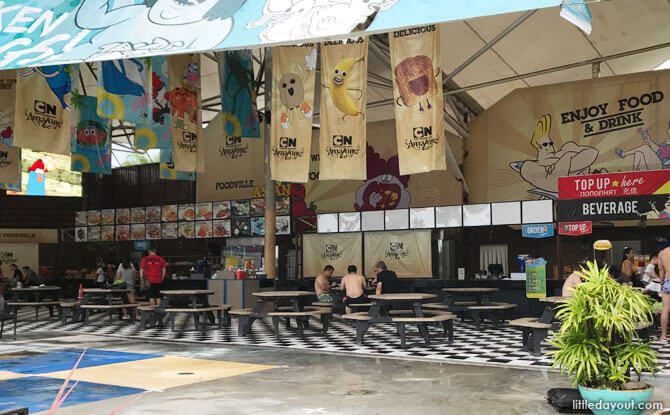 Cartoon Network themed food court