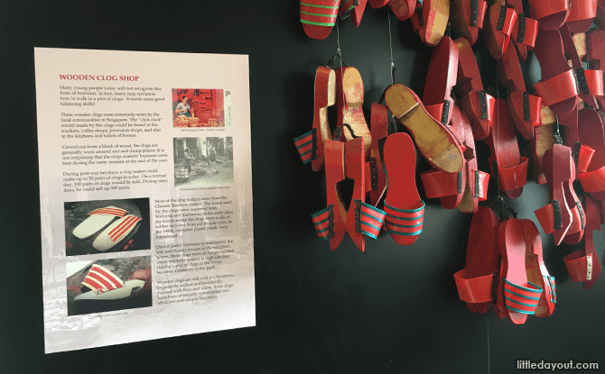 Clog Display at Singapore Philatelic Museum