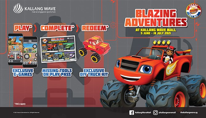 Blazing Adventure at Kallang Wave Mall - Play Exclusive E-Games to Redeem a FREE Exclusive DIY Truck Kit