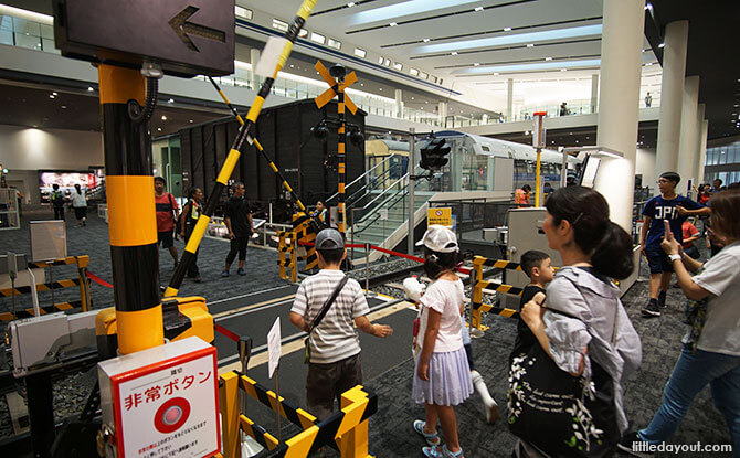 Interactive activity at Kyoto Railway Museum - Kyoto with Kids