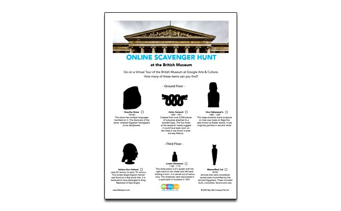 British Museum Virtual Visit Activity Sheet