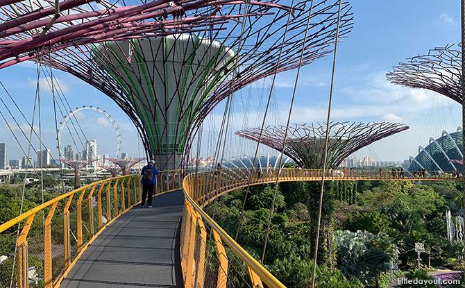 OCBC Skyway - Suspension bridges in Singapore