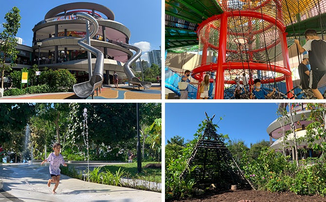 Coastal PlayGrove: Playground With Big Fun, Play Tower, Water Play & Nature Playgarden At East Coast Park