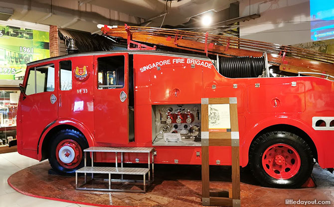 Old fire engines in Singapore