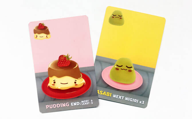 Pudding and wasabi cards