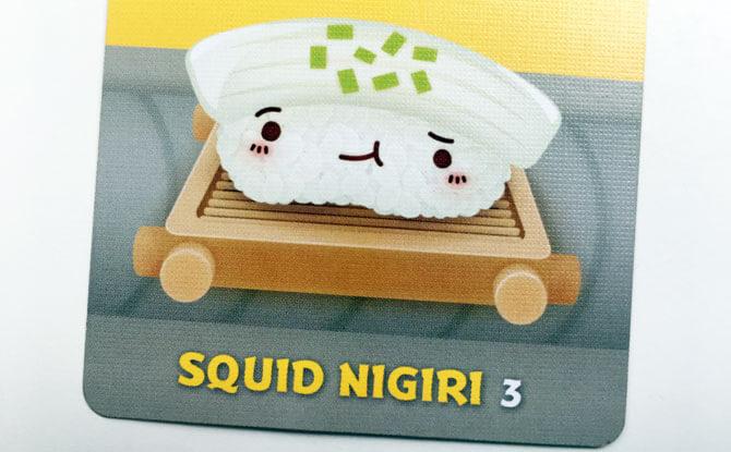 3 points for Squid Nigiri