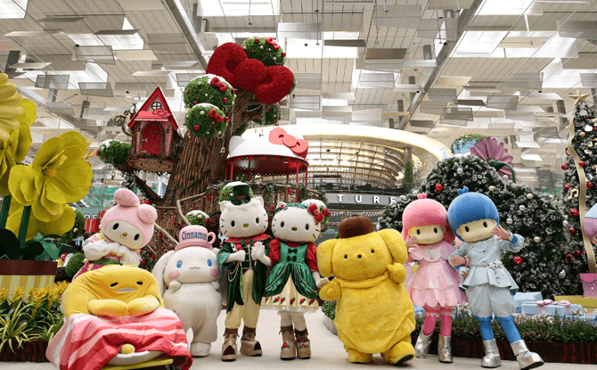 Hello Kitty and Friends meet-and-greet at Changi Airport, November & December 2017