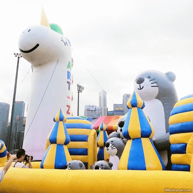 Unicorn inflatable at Art-Zoo 2018