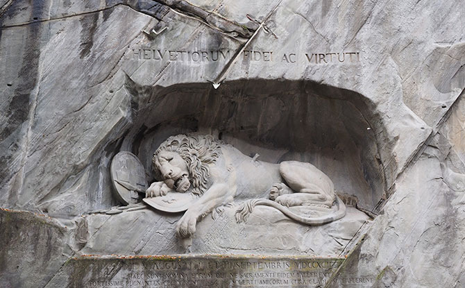 The Lion Monument in Lucerne