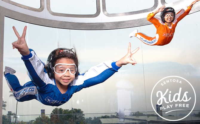 Sentosa's Kids Play Free – iFly Sky Dive