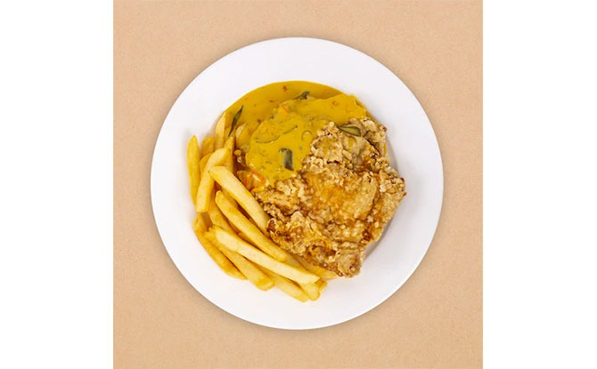 Breaded Chicken Cutlet with Salted Egg Sauce & Salted Egg Chicken Wings at IKEA Singapore