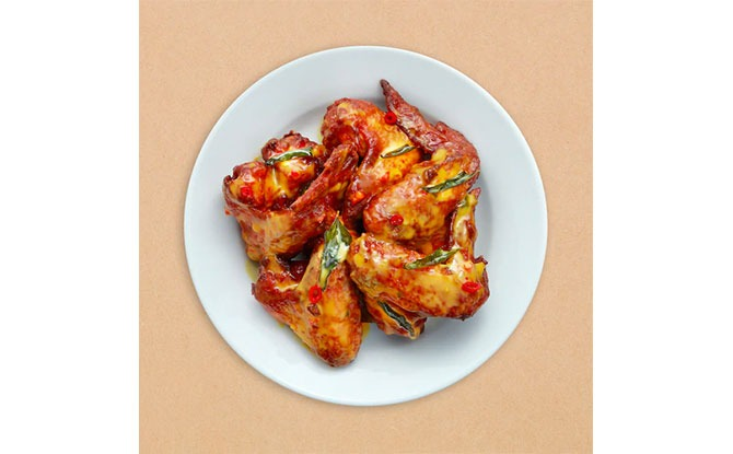 Salted Egg Chicken Wings at IKEA Singapore