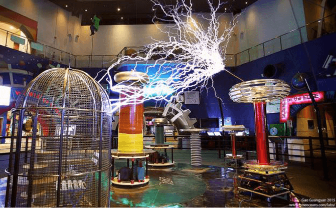 Science Centre musical tesla coil