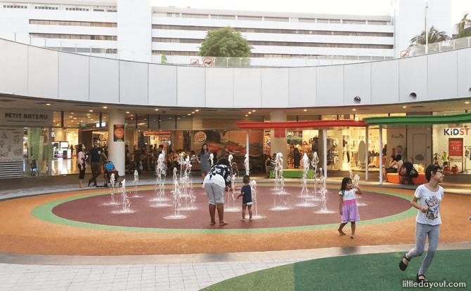 VivoCity Playground Water Play Area