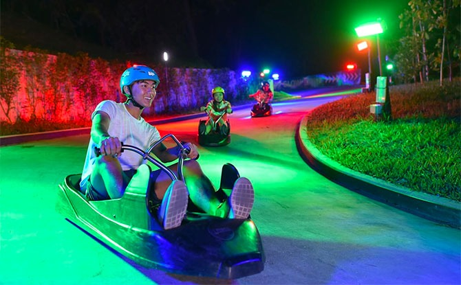 Sentosa Night Luge Is Back & You Can Get Free Ice Cream Till 18 September