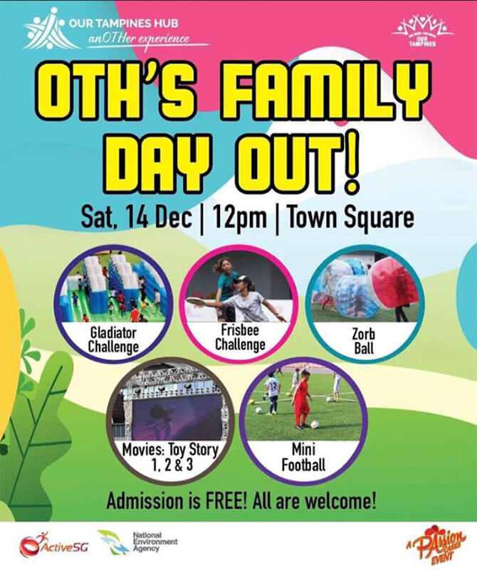 Our Tampines Hub's Family Day Out - free things to do December 2019 school holidays