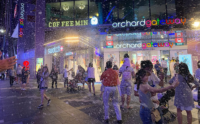 Orchard Gateway - Snow in Singapore