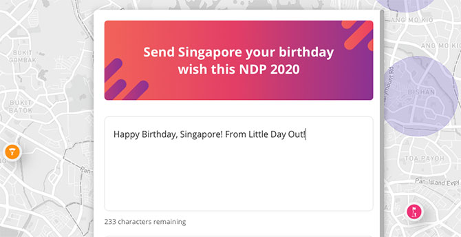 Other NDP2020 Interactive Map Feature for National Day 2020